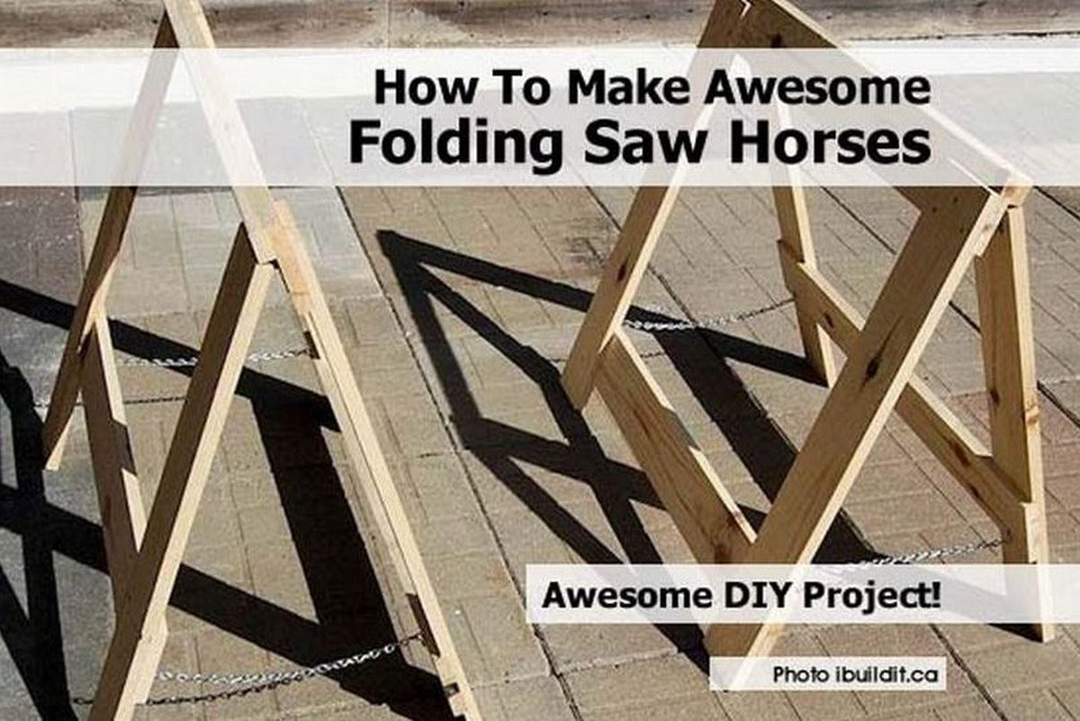 how to make awesome folding saw horses. Black Bedroom Furniture Sets. Home Design Ideas