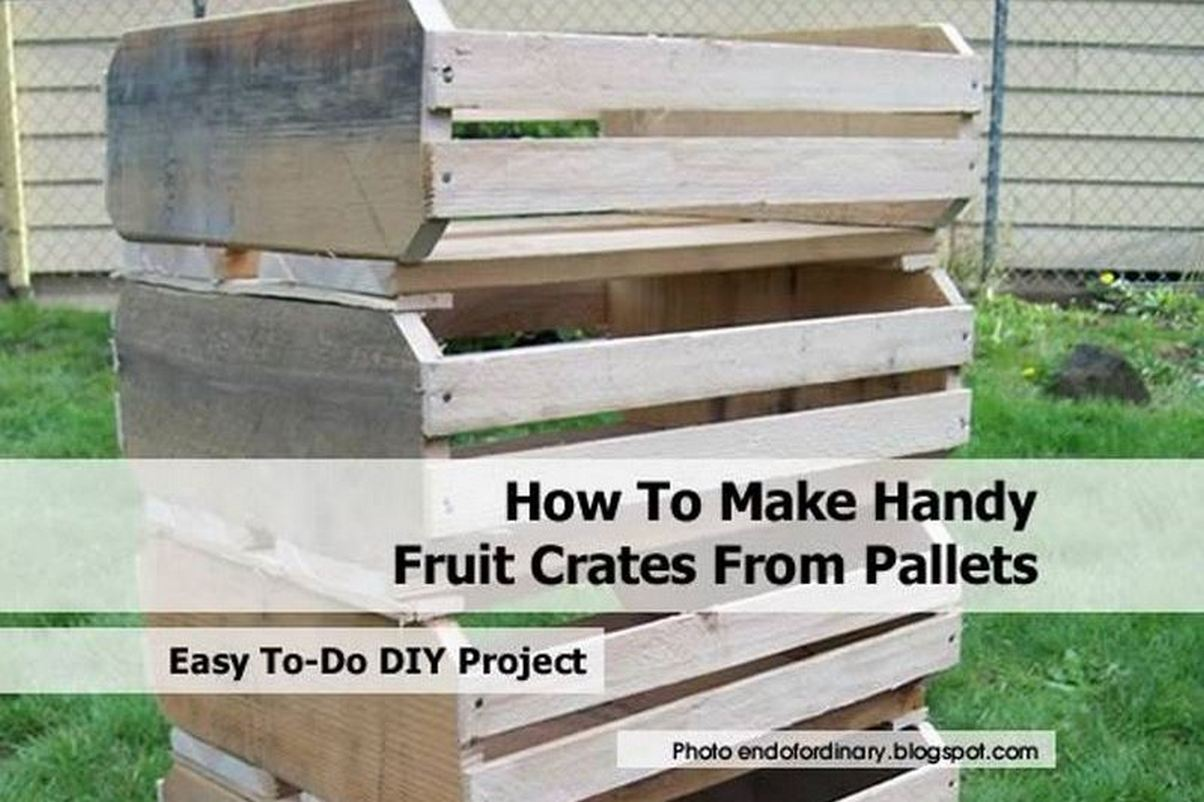 How To Make Handy Fruit Crates From Pallets