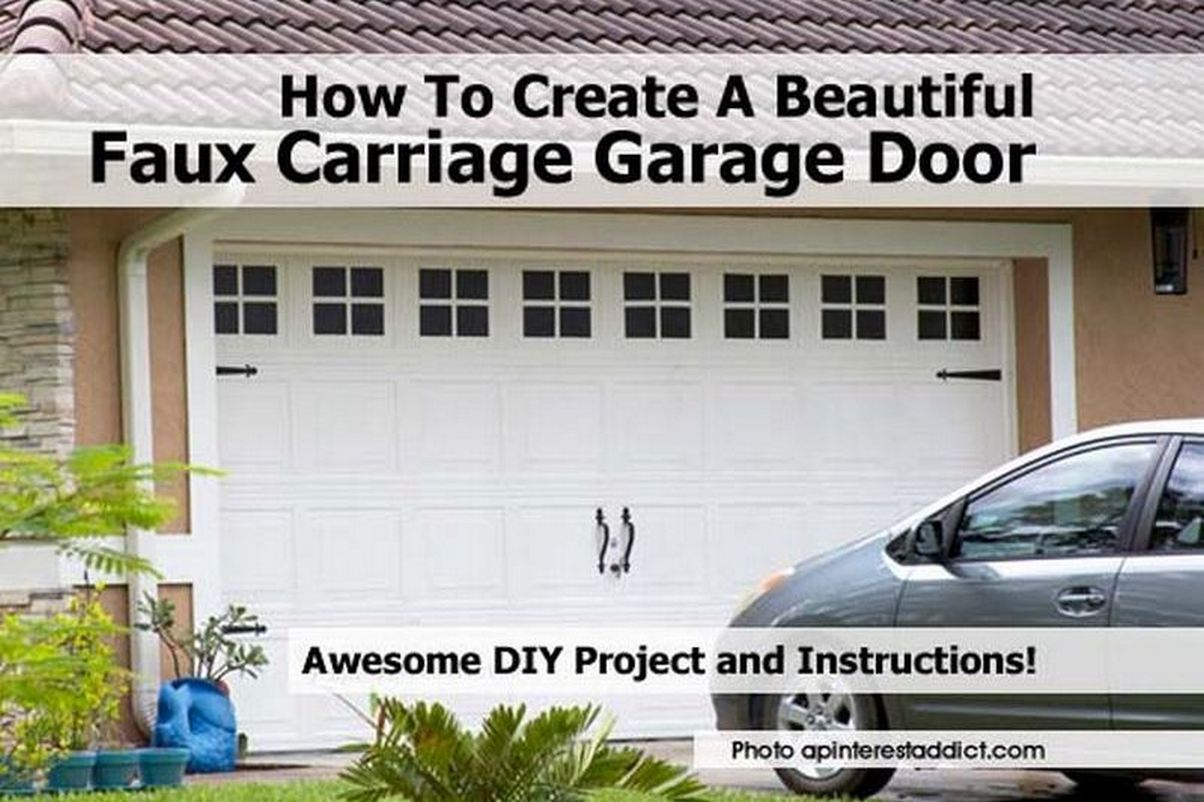 How To Create A Beautiful Faux Carriage Garage Door