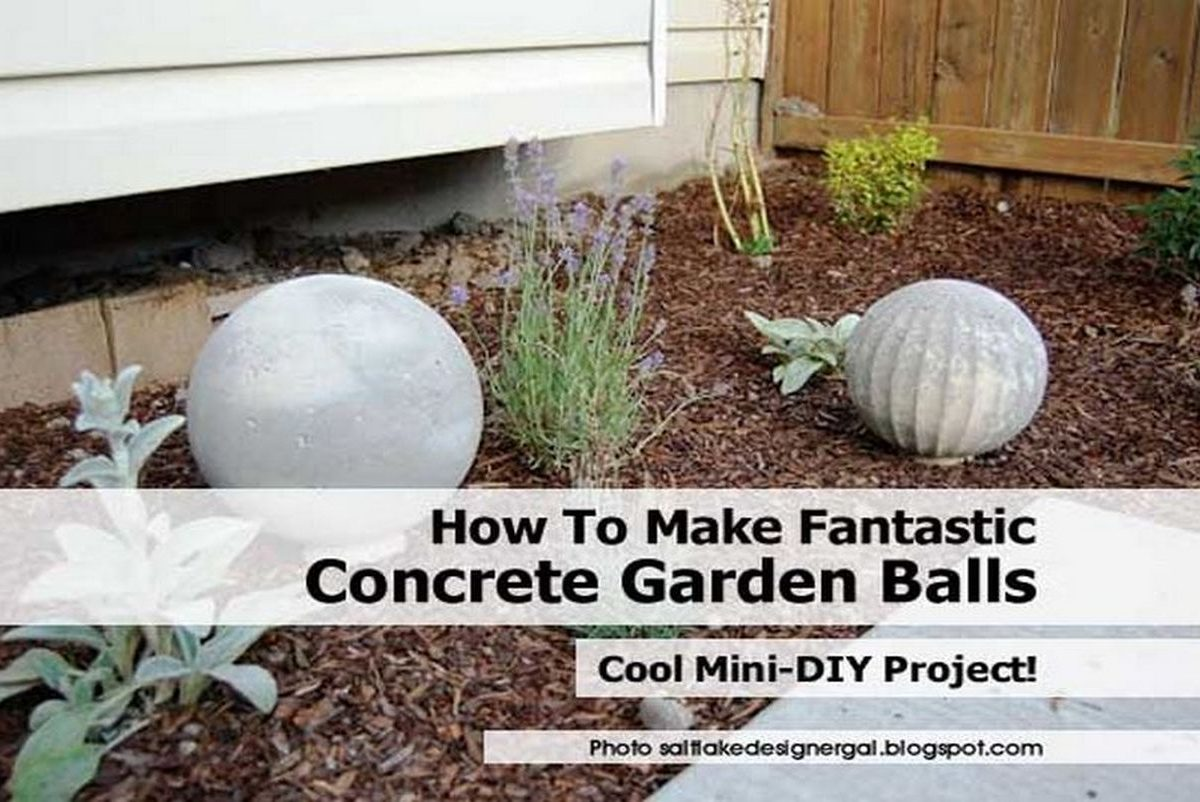 how to make fantastic concrete garden balls
