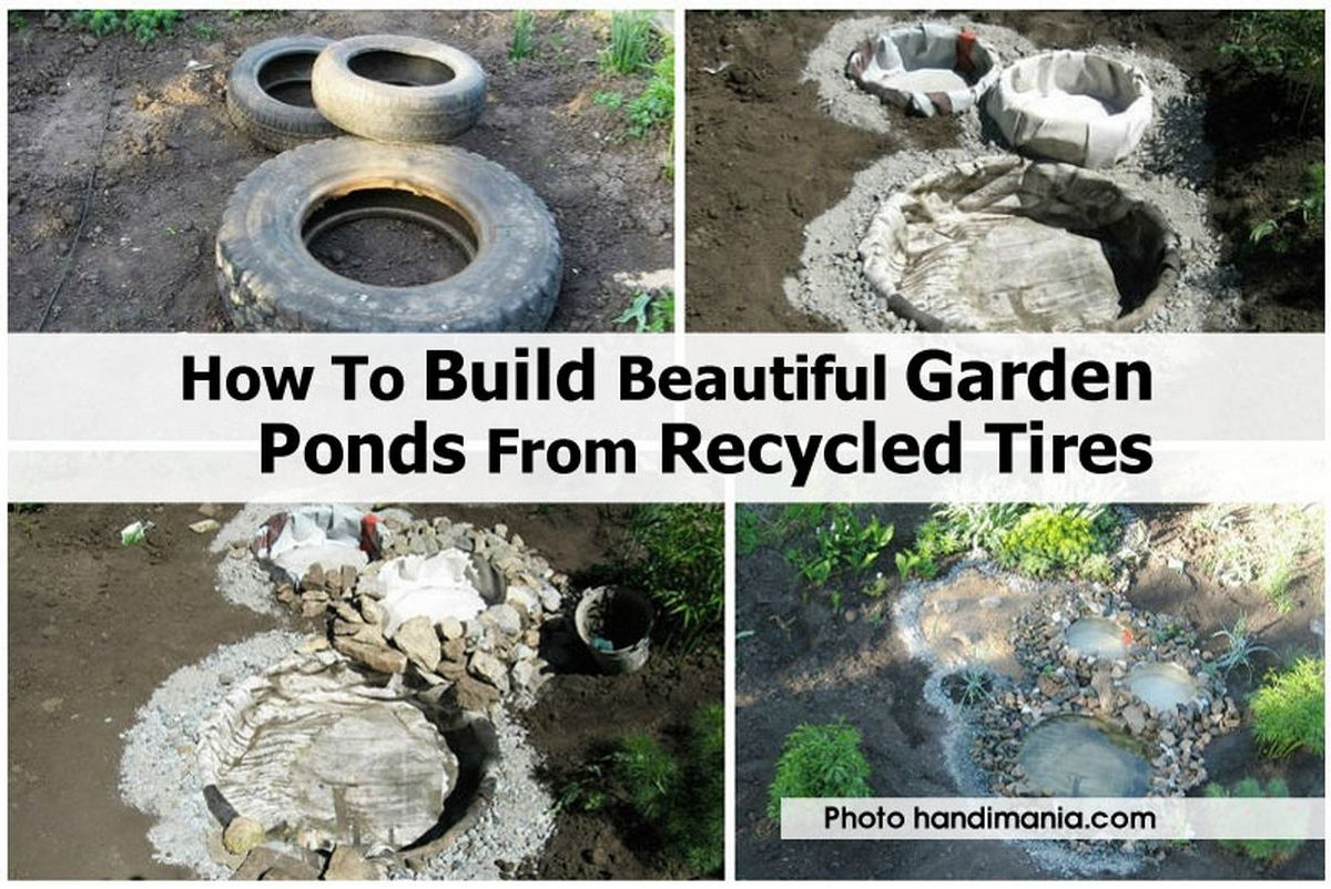 How To Build Beautiful Garden Ponds From Recycled Tires