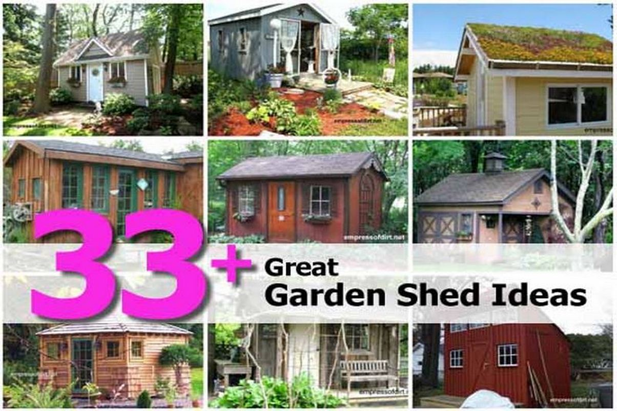 33 great garden shed ideas for Great garden ideas