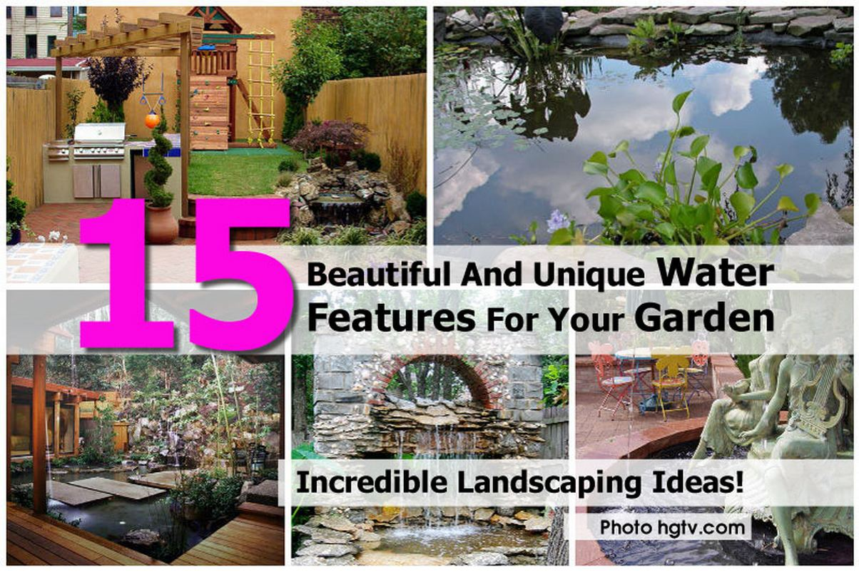 15 Beautiful And Unique Water Features For Your Garden