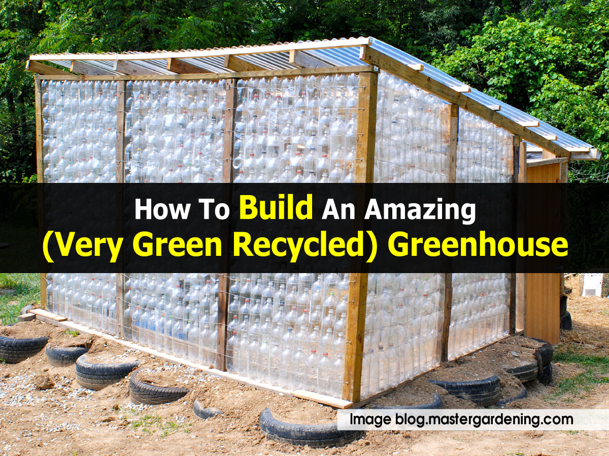 how to build an amazing very green recycled greenhouse