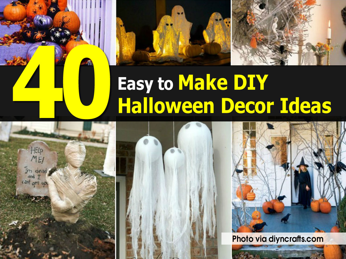 40 easy to make diy halloween decor ideas for Home decorations to make