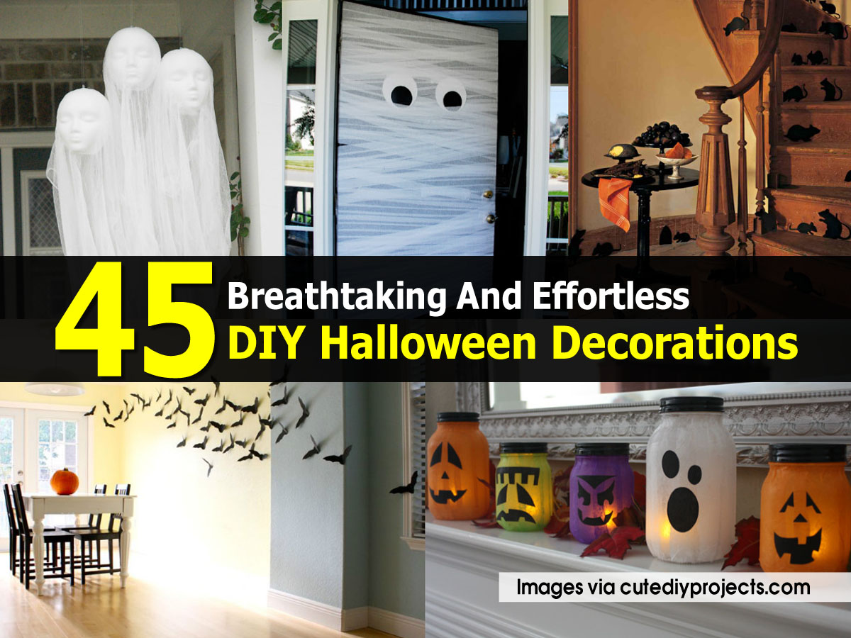 Halloween Decorations Cutediyprojects Com