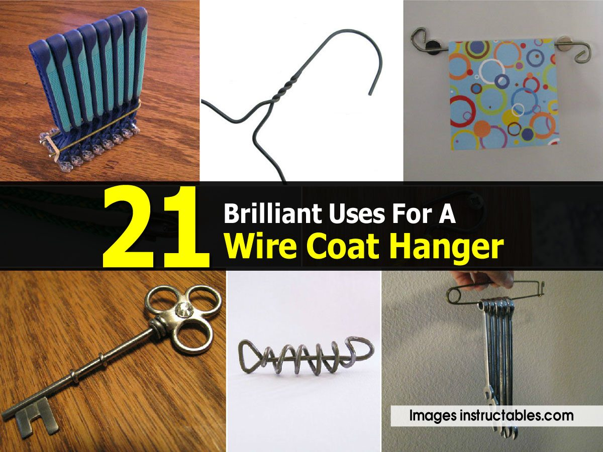21 brilliant uses for a wire coat hanger for Coat hanger art projects