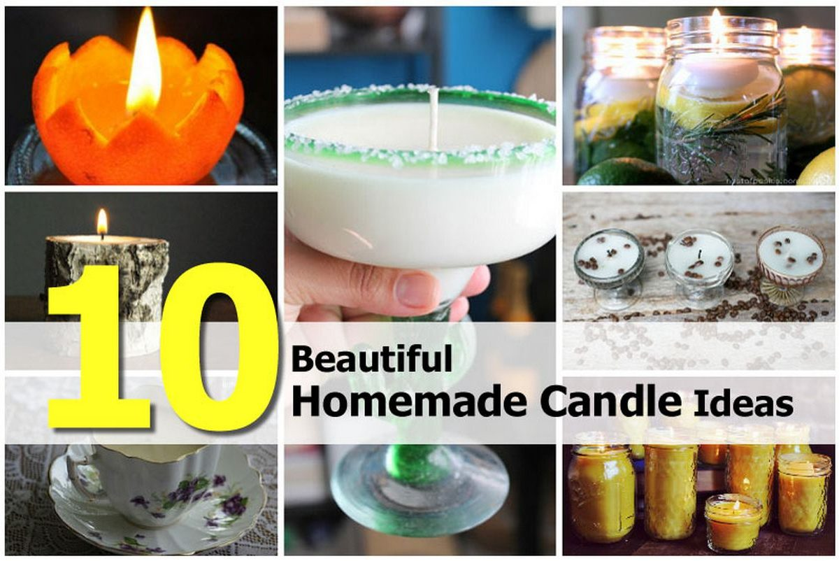 10 beautiful homemade candle ideas for Candle ideas