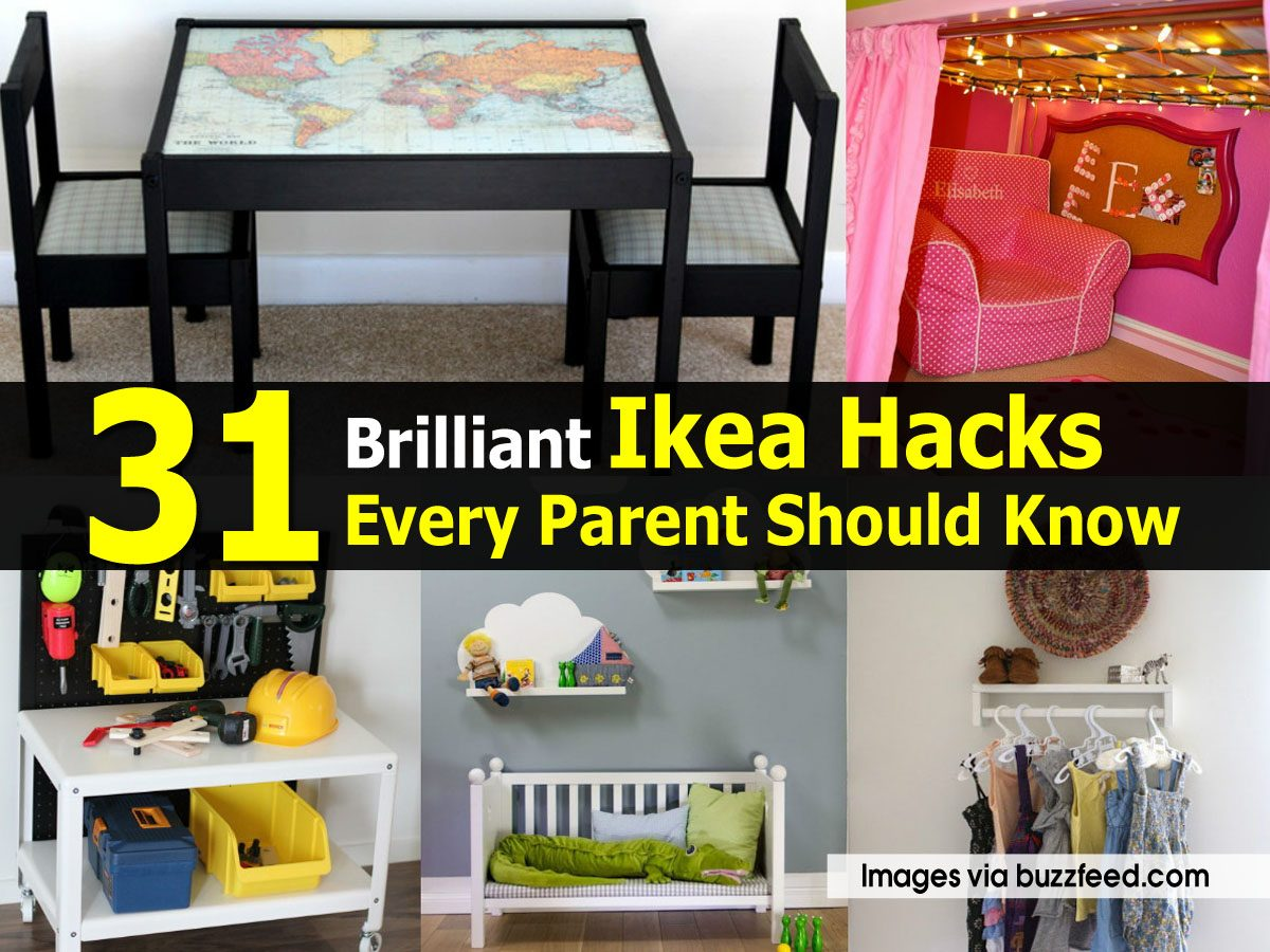 31 brilliant ikea hacks every parent should know. Black Bedroom Furniture Sets. Home Design Ideas