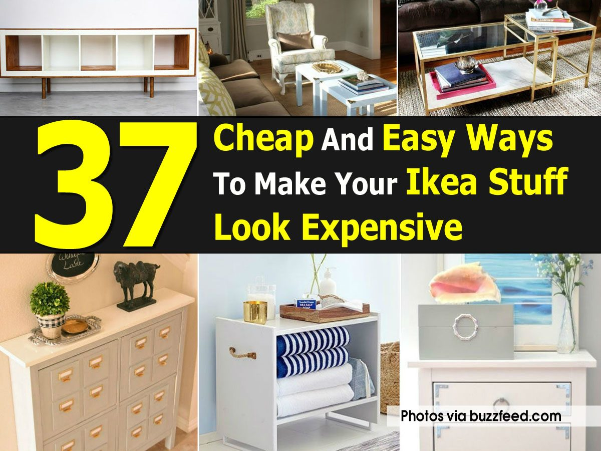 37 cheap and easy ways to make your ikea stuff look expensive for Cheap things to build