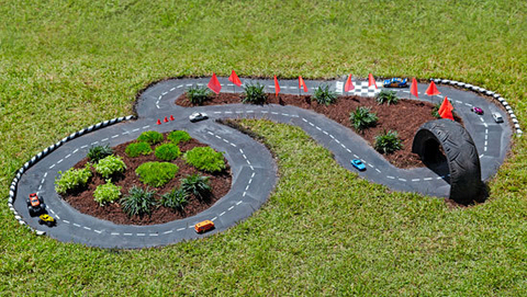 How To Build An Outdoor Kids Toy Racetrack