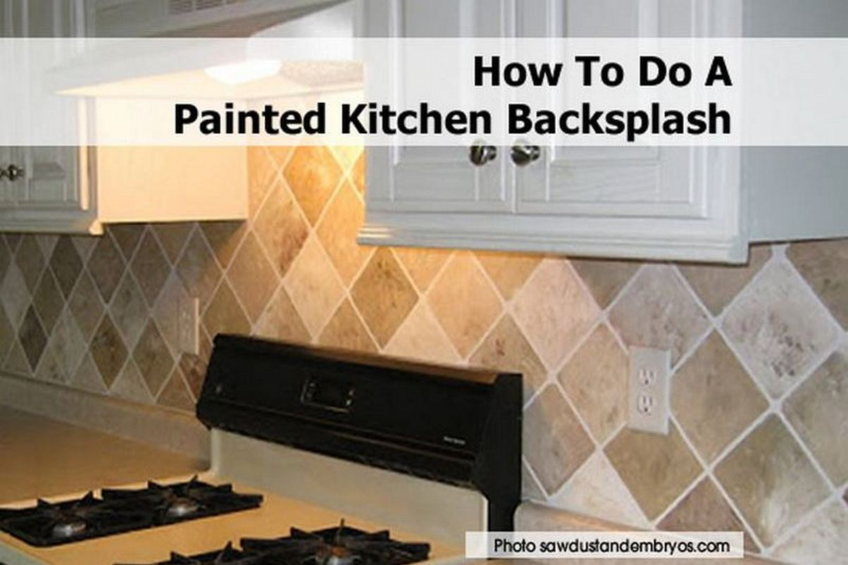 how to do a painted kitchen backsplash