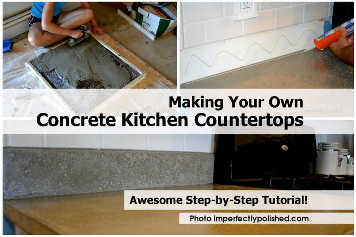 Making your own concrete kitchen countertops for Make your own cement