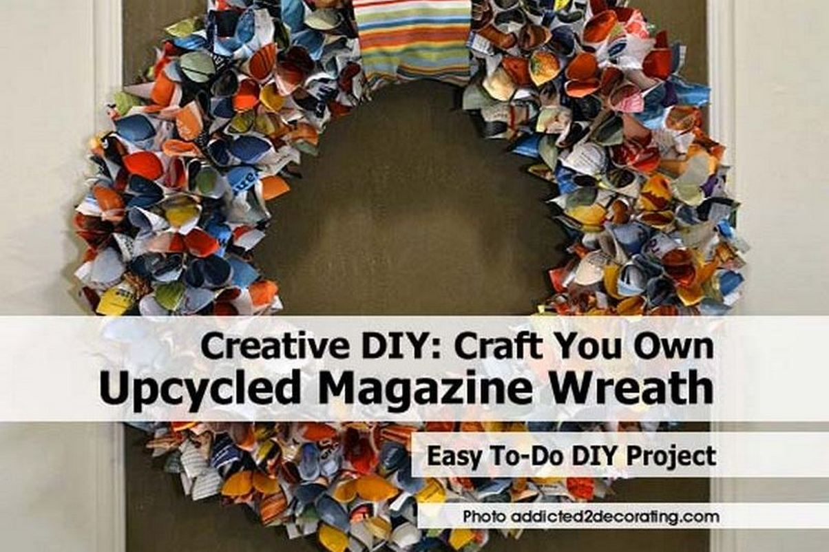 Creative DIY: Craft Your Own Upcycled Magazine Wreath