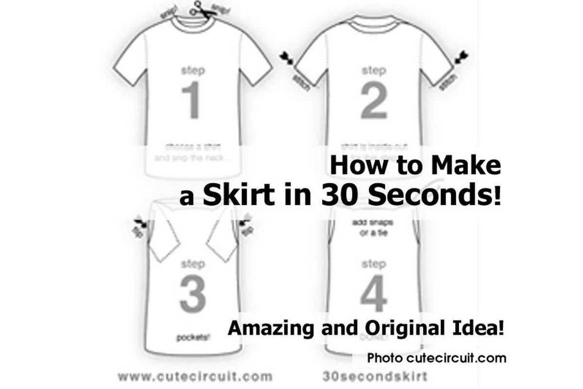 how to make a skirt in 30 seconds