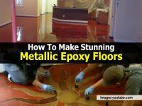How To Make Stunning Metallic Epoxy Floors