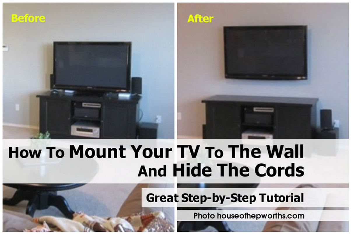 How to mount your tv to the wall and hide the cords for How to wall mount a tv