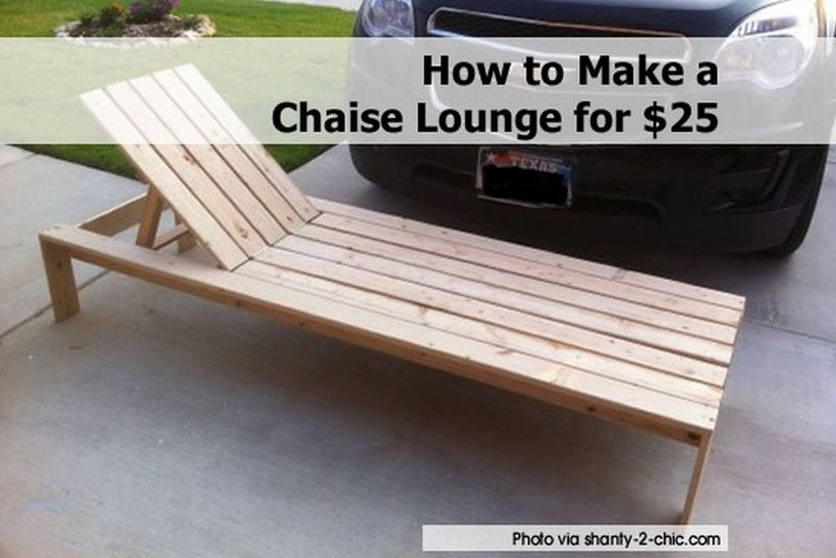 How to make a chaise lounge for 25 for Build outdoor chaise lounge