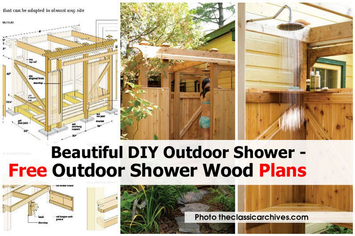 Outdoor Shower Wood Theclassicarchives Com