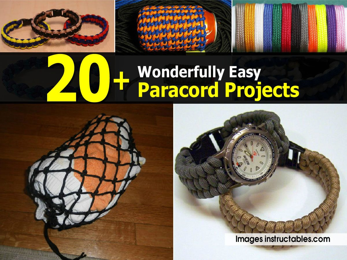 20 wonderfully easy paracord projects for Cool things to do with paracord