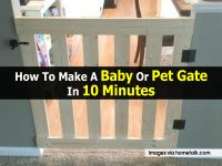 How To Make A Baby Or Pet Gate In 10 Minutes