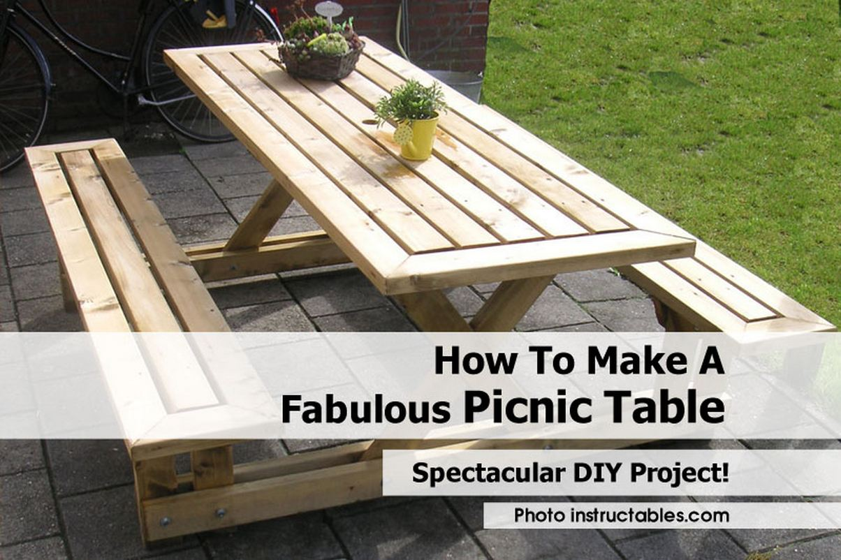 ... to make a picnic table with attached benches | New Woodworking Models