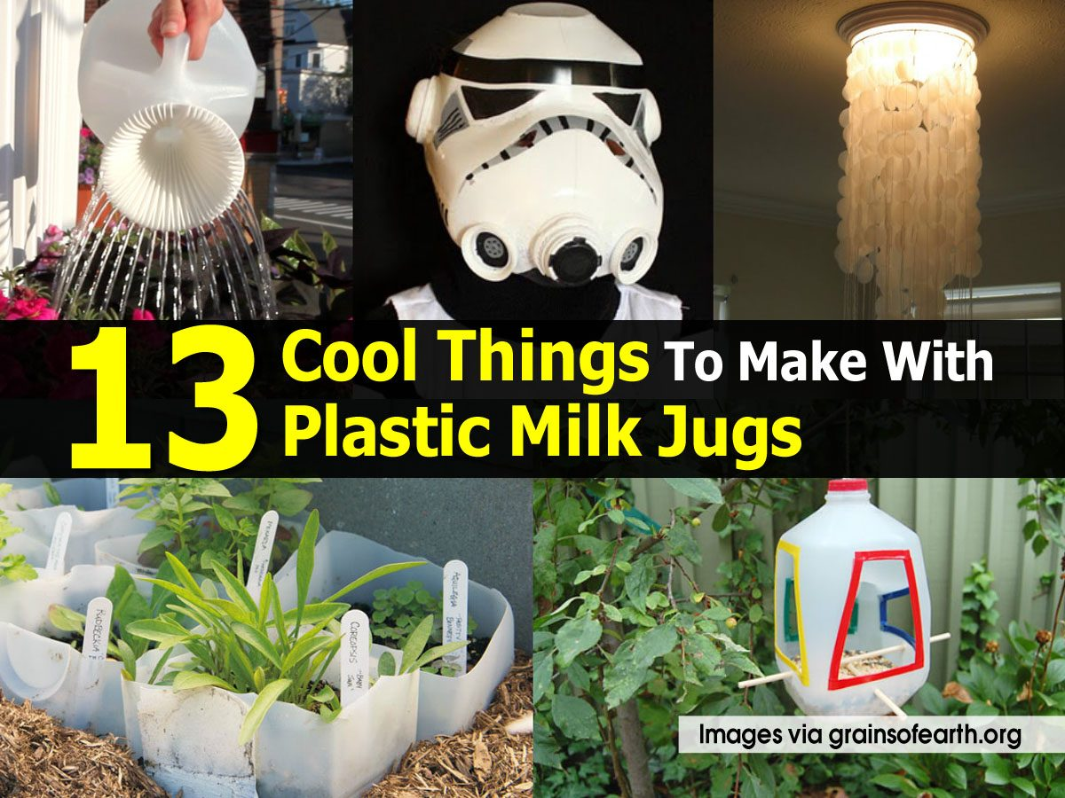 13 cool things to make with plastic milk jugs for Cool things to make and do