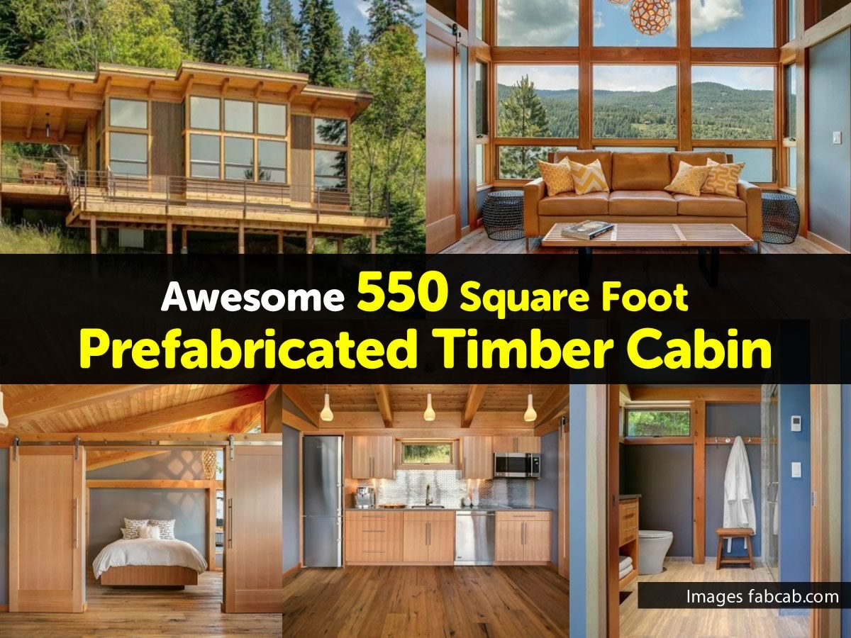 Diy Ideas Awesome 550 Square Foot Prefabricated Timber Cabin