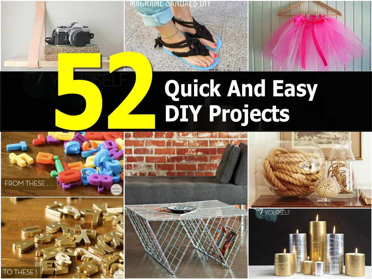 52 quick and easy diy projects. Black Bedroom Furniture Sets. Home Design Ideas