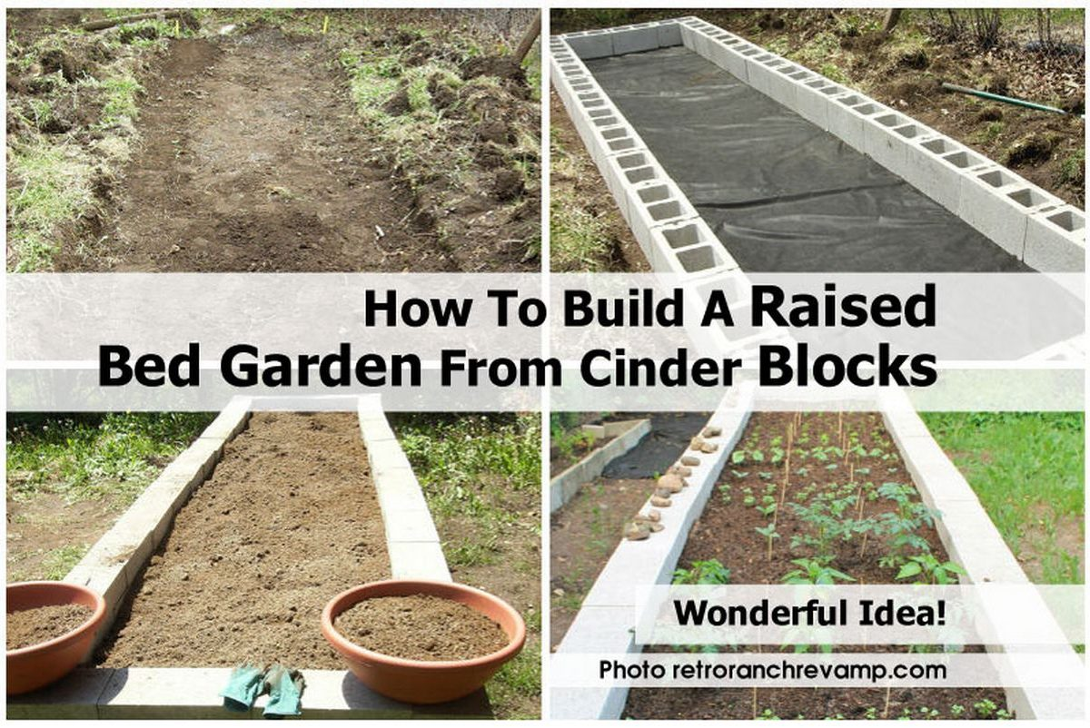 How to build a raised bed garden from cinder blocks for How to build a block house