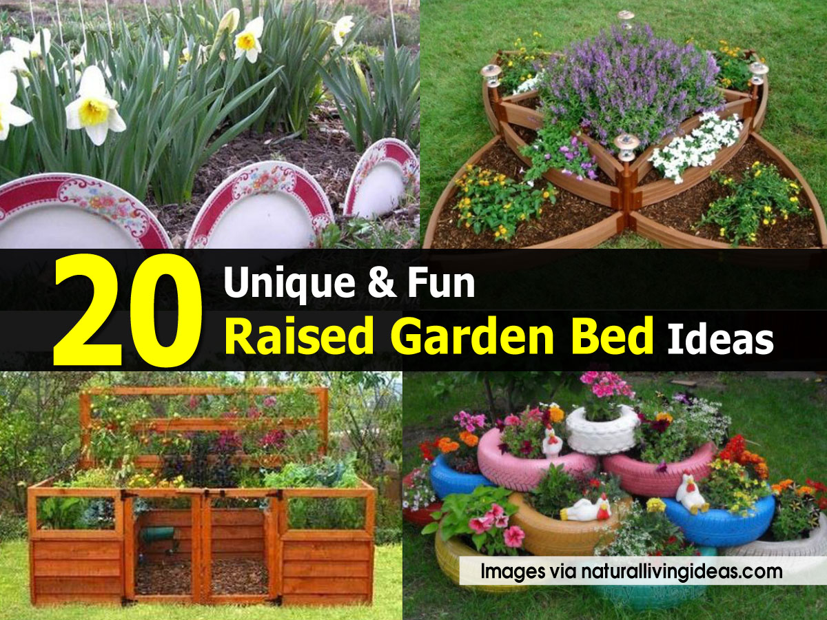20 Brilliant Raised Garden Bed Ideas You Can Make In A: 20 Unique & Fun Raised Garden Bed Ideas