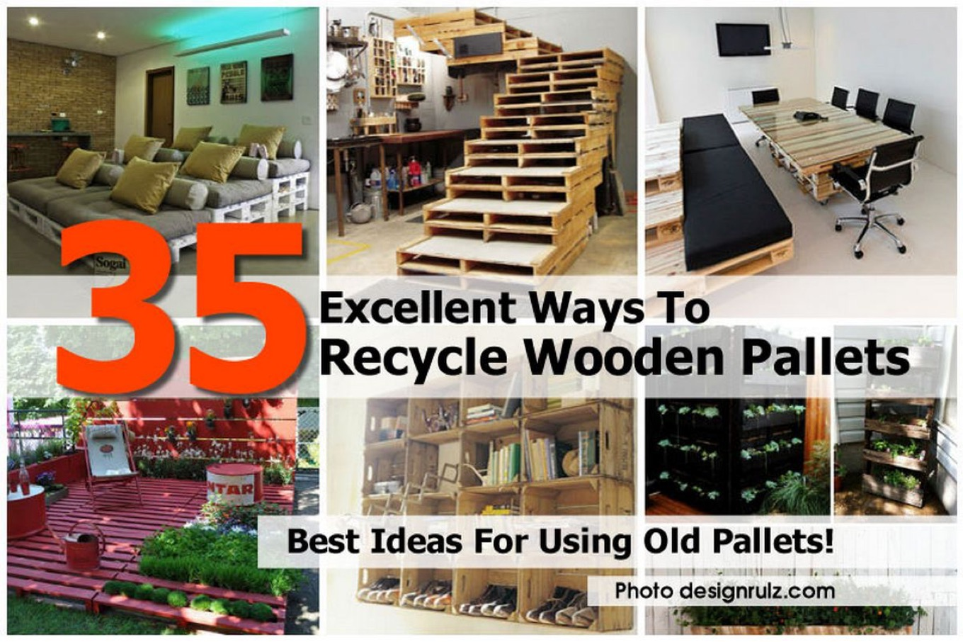 35 excellent ways to recycle wooden pallets for Ways to recycle wood