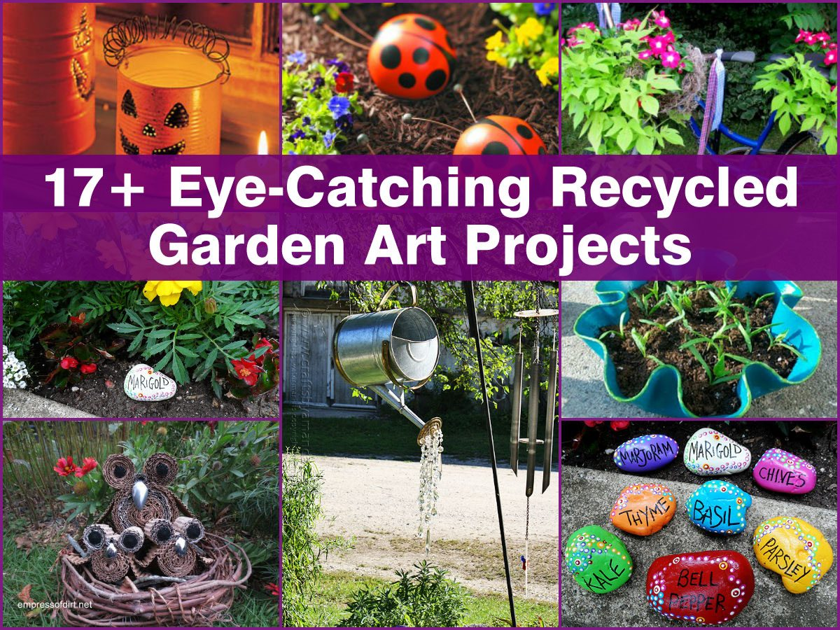17  excellent recycled garden art projects