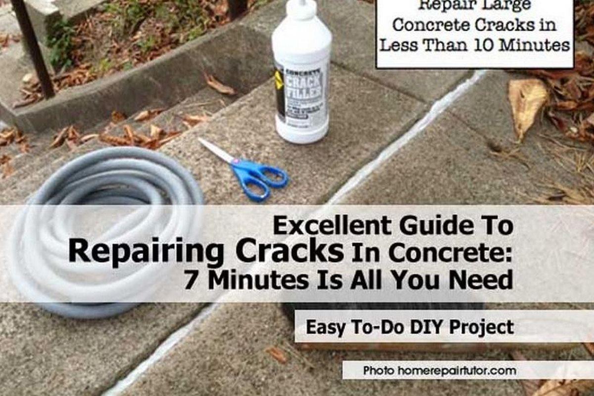 Excellent Guide To Repairing Cracks In Concrete 7 Minutes