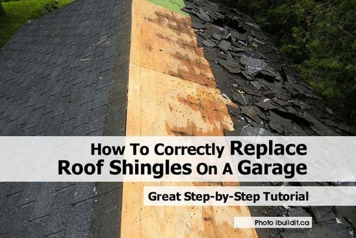 How To Correctly Replace Roof Shingles On A Garage