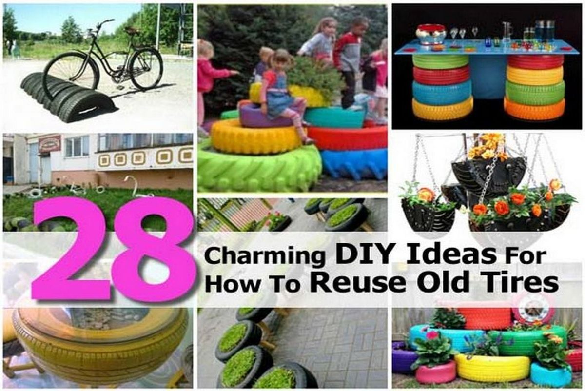 28 charming diy ideas for how to reuse old tires for What to do with old tires