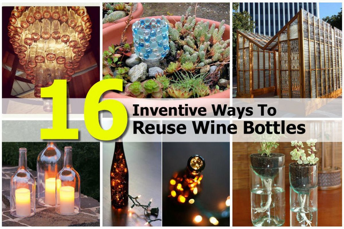 Top 28 16 creative ways to reuse 16 creative ways to for Most beautiful wine bottles