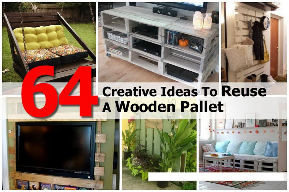 64 Creative Ideas To Reuse A Wooden Pallet