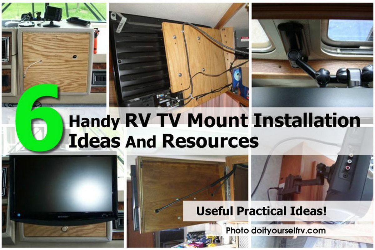 6 Handy Rv Tv Mount Installation Ideas And Resources