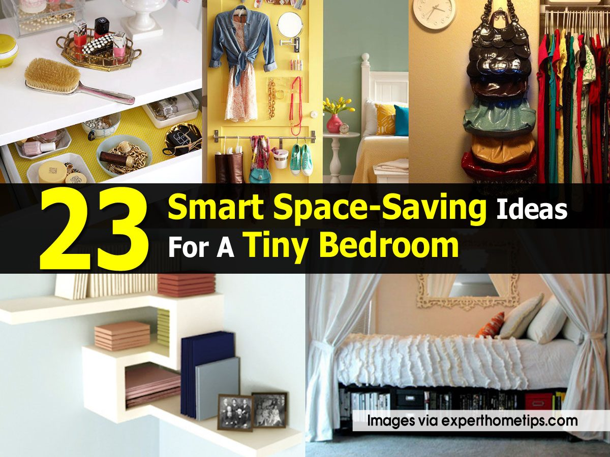 23 smart space saving ideas for a tiny bedroom - Space saving ideas for bedrooms ...