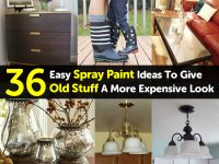 36 Easy Spray Paint Ideas To Give Old Stuff A More Expensive Look