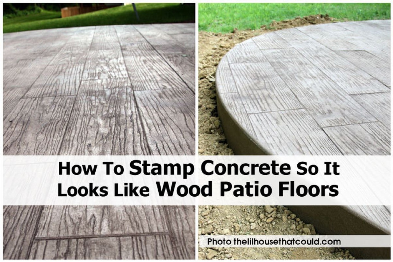 Stamped Concrete That Looks Like Wood Planks : How to stamp concrete so it looks like wood patio floors
