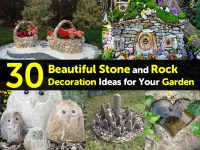 30 Beautiful Stone and Rock Decoration Ideas for Your Garden