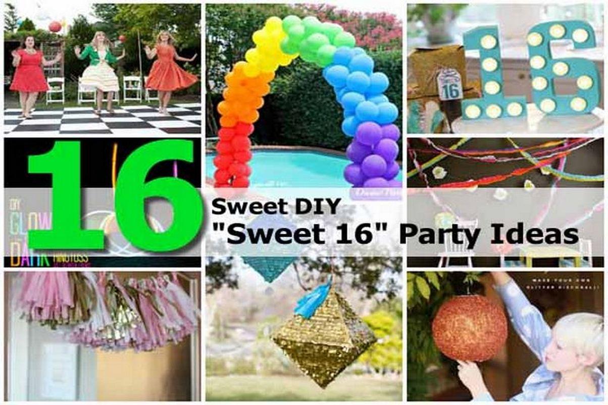 16 Sweet DIY Sweet 16 Party Ideas
