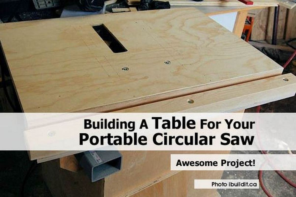 Building a table saw workbench