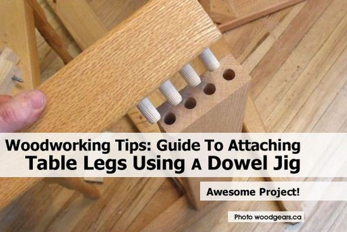 Woodworking Tips Guide To Attaching Table Legs Using A