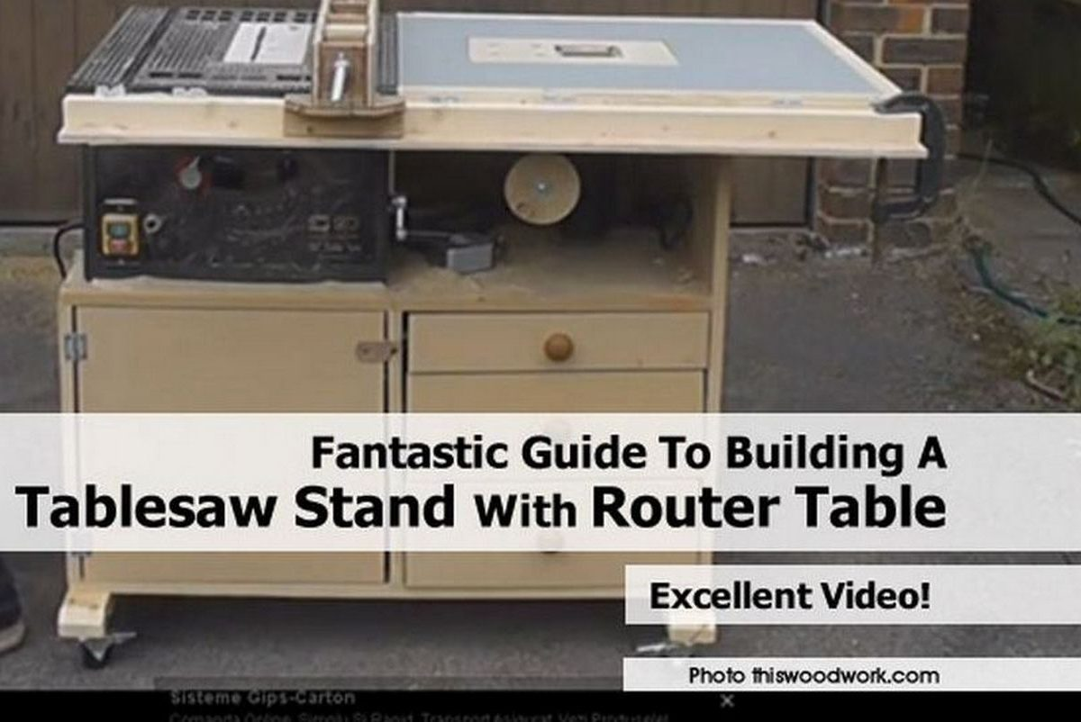 Fantastic guide to building a tablesaw stand with router table for How to make a router table stand
