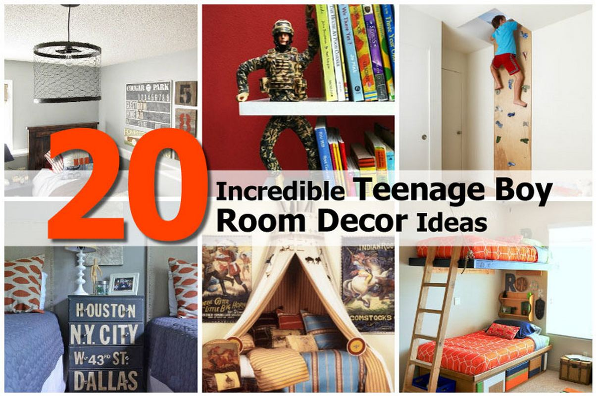 20 incredible teenage boy room decor ideas for Diy boys bedroom ideas