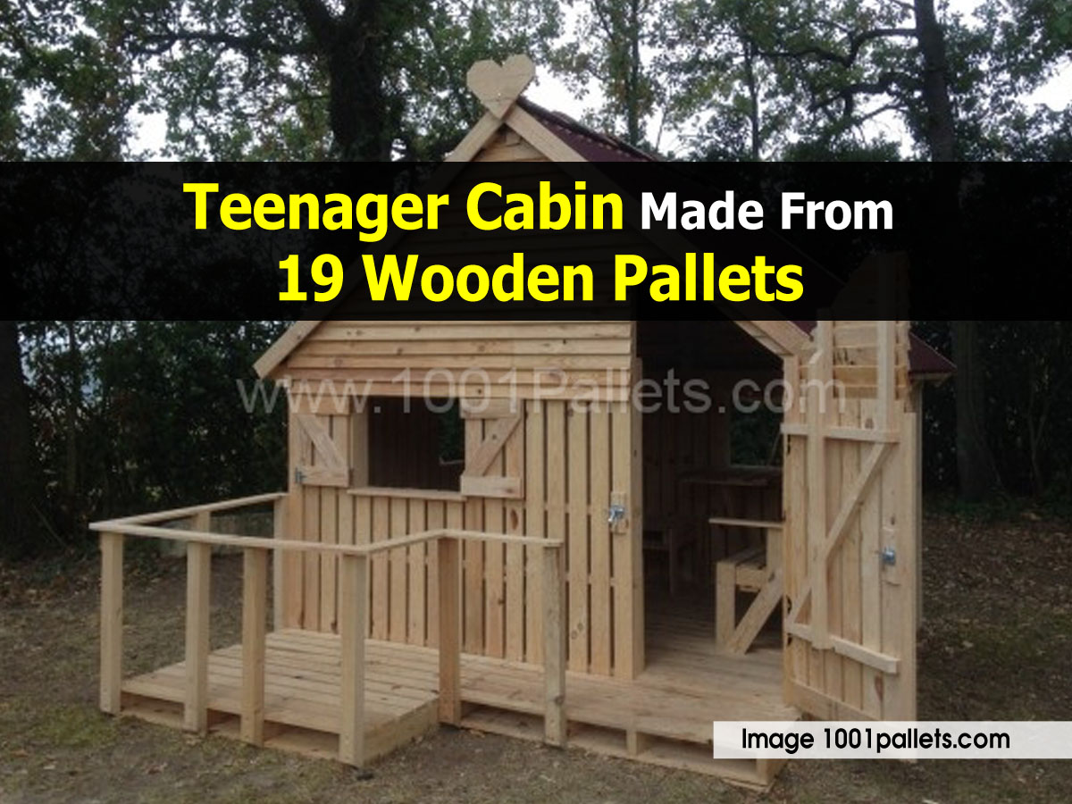 Teenager Cabin Made From  Wooden Pallets