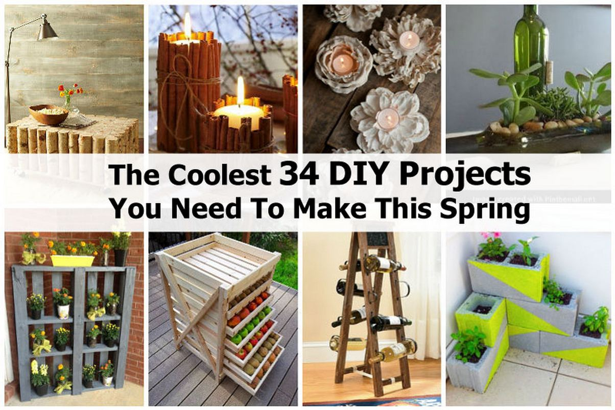 The coolest 34 diy projects you need to make this spring for Diy crafts with things around the house